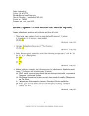 CHE-121-Written Assignment 2.docx