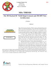 Thesis_3D Stacked IC Yield Improvement and 3D-DfT Test Architecture