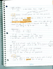 Notes on dot and cross product