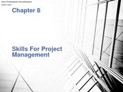 Chapter 8 - Skills For Project Management