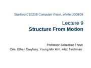 CS223B-L9-StructureFromMotion
