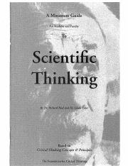Guide to Scientific Thinking
