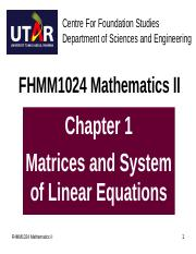 FHMM1024_Chapter_1_Matrices_and_Linear_Equations.ppt