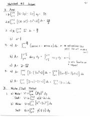 Worksheet 2 Solutions