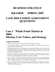 Assignment questions various case studies