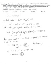 CHEM 150 Example 6 In Class Solutions