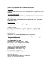 Lifespan Chapter 1 Outline-Class Notes (1) pdf - Chapter 1
