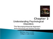 Chapter 2 Abnormal Psychology S11 for posting