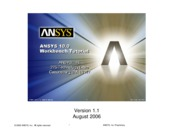 ANSYS 10.0 Workbench Tutorial - Description of Tutorials