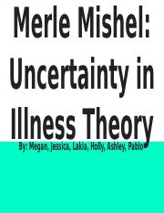 mishels uncertainty in illness theory