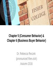 Chapters 5 and 6 (Consumer Behavior and B2B) - CANVAS