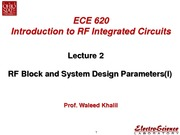 Lect2_RF Block and System Design Parameters(I)