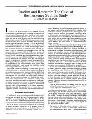 Brandt - 1978 - Racism and Research The Case of the Tuskegee Syph