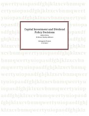 Capital Investment and Dividend Policy Decisions.docx