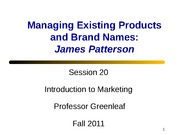 Session 20 - James Patterson