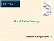 14. Food Biotechnology