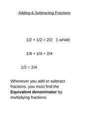 Lesson 6 - Fraction Operations