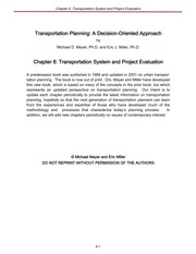 3.1_Meyer-Ch 8 Transportation System and Project Evaluation