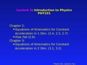 PHY 101 Lecture 6