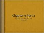 Chapter 9 Part 2 SPRING 2011