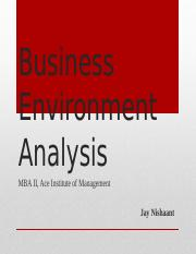 1 Buisness Environment Introduction Jay Nishaant