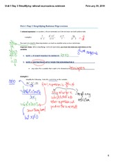 Unit 1 Day 3 Simplifying rational expressions