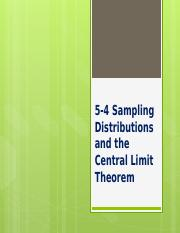 5-4 Sampling Distributions and the Central Limit Theorem.pptx