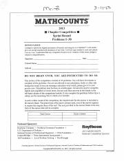 MathCounts-2013+Sprint+Round+(Chapter+Competion)-KEY
