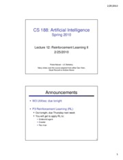 SP10 cs188 lecture 12 -- reinforcement learning II (2PP)