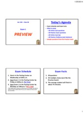 Powerpoint - Exam 1 Preview