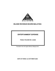 3-2008 - Entertainment Expense (issued 22 October 2008)