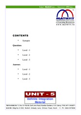 definite and limits