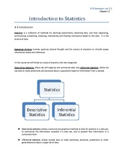 lecture 1 on Introduction to Statistics