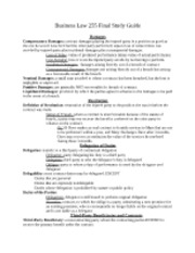 Business Law 255 Final Study Guide