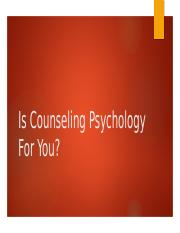 Psy 305 counseling psychology