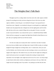 The Weights Don't Talk Back