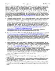 ... Essay Topics - Linguistics 1 Essay Assignment Due March 13 Choose one