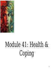 41 Health and Coping