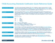 PwC Codification Quick Reference Guide