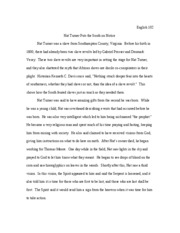 Compare And Contrast Nat Turners Confessions With Samuel Sharps   Pages Nat Turner Puts The South On Notice Where Can You Get Help To Write A Business Plan also Research Essay Topics For High School Students  Custom Writing Lab Reports