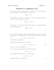 Math101Fall2012Assignment11Solutions