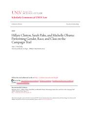 Hillary Clinton Sarah Palin and Michelle Obama_ Performing Gend.pdf