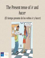 CH03_4. The present tense of ir and hacer.ppt