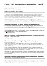 EDU 310 Week 4 Individual TaskStream Assignment Self-Assessment of Dispositions