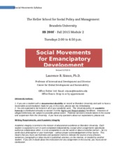 Social Movements syllabus Fall 2015