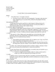Formal Outline-Undocumented Immigration