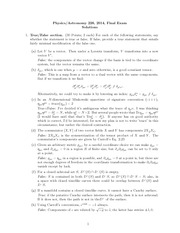 Final Exam  Solution on General Relativity