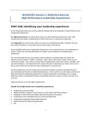 High performance leadership experiences.docx