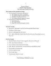 L18 - The Early Crusades-Ordering of Medieval Society