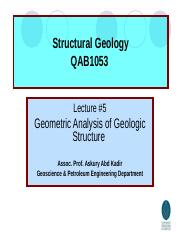 Lec6 Geometric of geologic structure